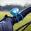 Blue Bike Bandit light with silicone band