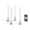 "White 7"" Resin Flameless Taper Candles with Removable Silver Bases, Set of 4"