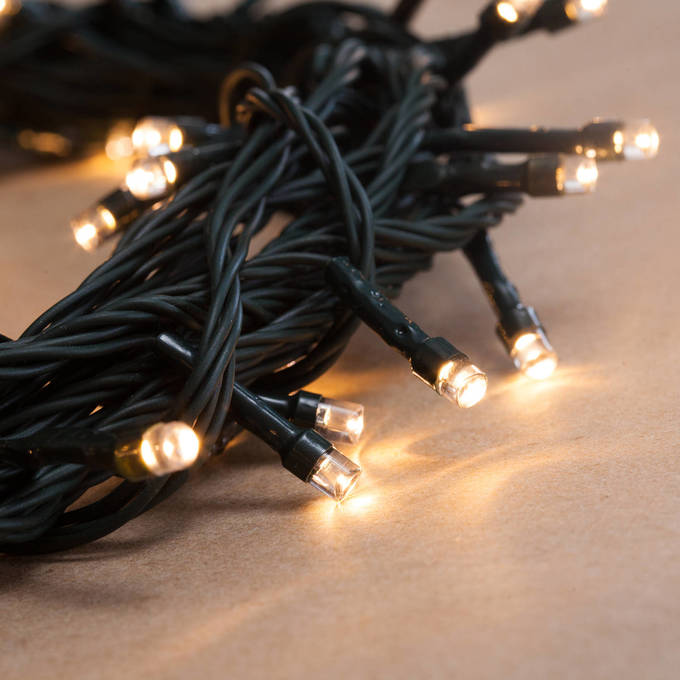 Warm White 100 LED Battery String Lights with Timer