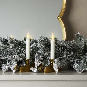 white 9 flameless window candle set of 2 - Christmas Candle Lights For Windows