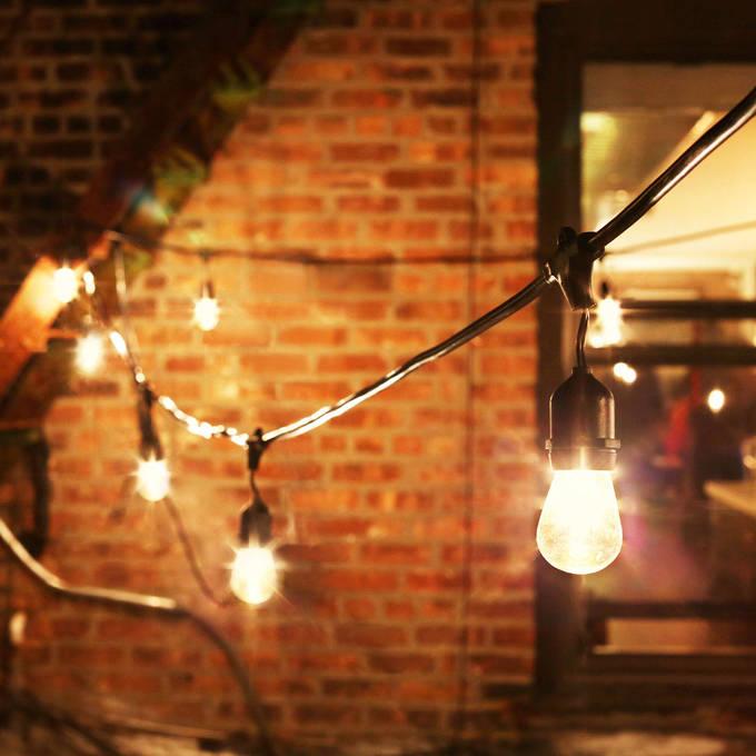 Heavy Duty 15-Socket Vintage Light Strand with Bulbs