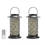 """Set of 2 Cirque Lanterns with 6"""" Outdoor Candles and Remote"""
