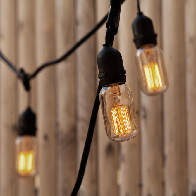 Williamsburg Bulbs with Heavy Duty 10-Socket Vintage Light Strand