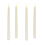 """Classic Ivory 10"""" Wax Flameless Taper Candles, Set of 4"""