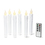 "Florence White 7"" Drip Resin Flameless Taper Candles, Set of 6"