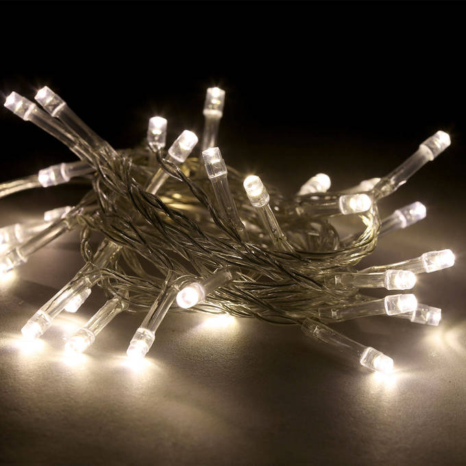 warm white led battery powered string lights set of 3