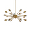 Sputnik 18-Light Chandelier, Aged Brass