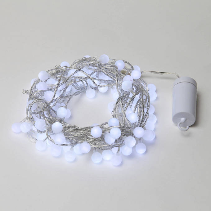 Mini Globe String Lights White : Lights.com String Lights Battery String Lights Frosted Cool White Mini Globe Battery ...