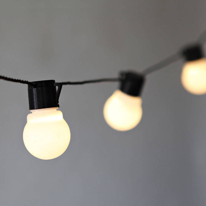 White Globe Connectable Plug-in Festoon Party String Lights