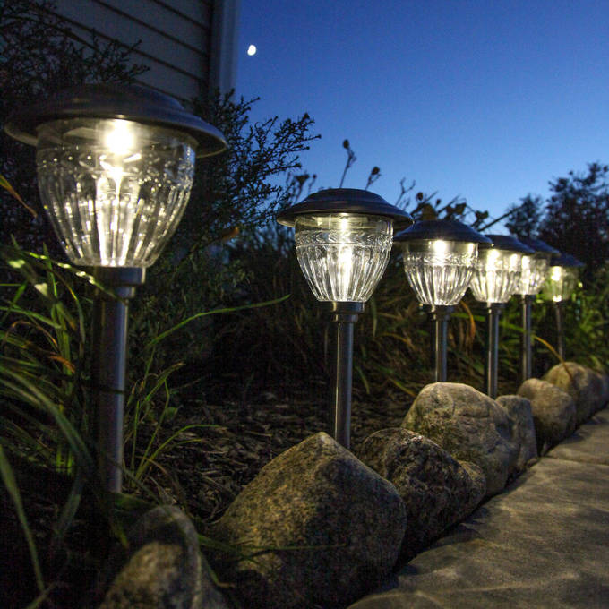 marion stainless steel warmwhite solar path lights set of 6