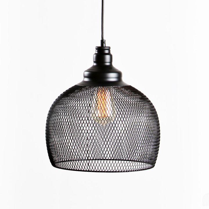 Bergen Bell Pendant, Matte Black