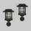 Brown Solar Path Lights with Wall Sconce Converter, Set of 2