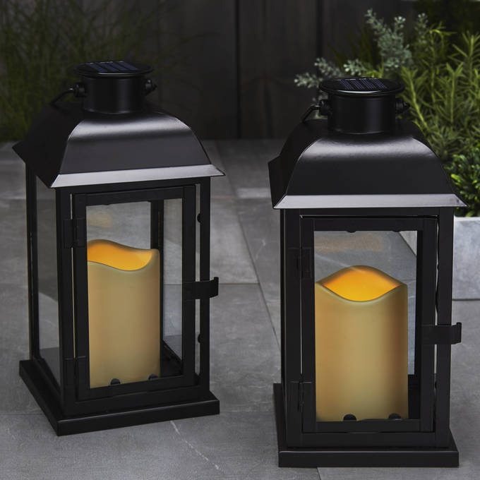 Vanity Lights Flickering : Lights.com Flameless Candles Lanterns Solar 11.5