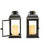 "Solar 11.5"" Black Metal Flameless Lantern, Set of 2"