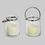 Brighton Glass Hurricane Lantern with Flameless Candle and Remote, Set of 2
