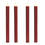 """Victoria Burgundy 10"""" Textured Flameless Taper Candles, Set of 4"""