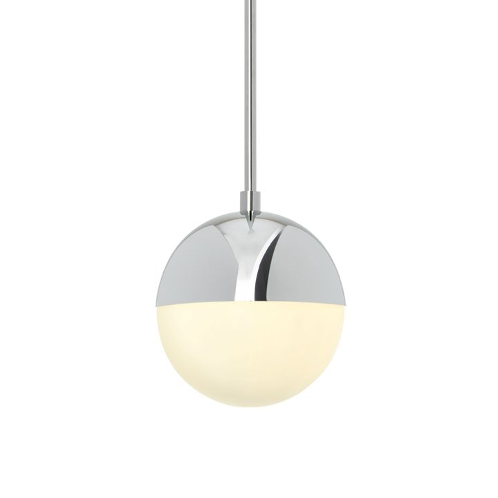 "Powell LED 7"" Chrome Globe Pendant"