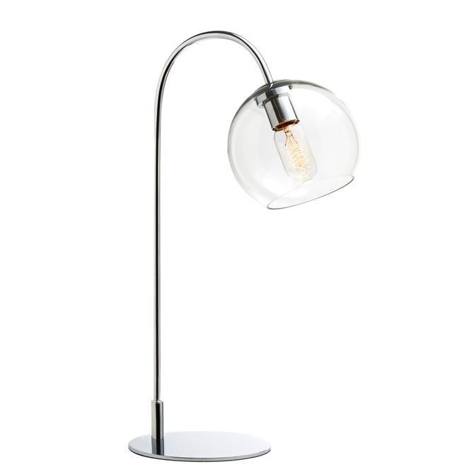 Celeste Table Lamp with Clear Globe, Chrome
