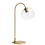 Celeste Table Lamp with Clear Globe, Aged Brass