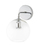 Hoyt Wall Sconce with Clear Globe, Chrome