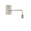 Prospect Swing Arm Wall Sconce, Satin Nickel