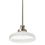 Clermont Pendant with Vintage White Glass, Satin Nickel