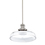 Clermont Pendant with Vintage Clear Glass, Polished Nickel