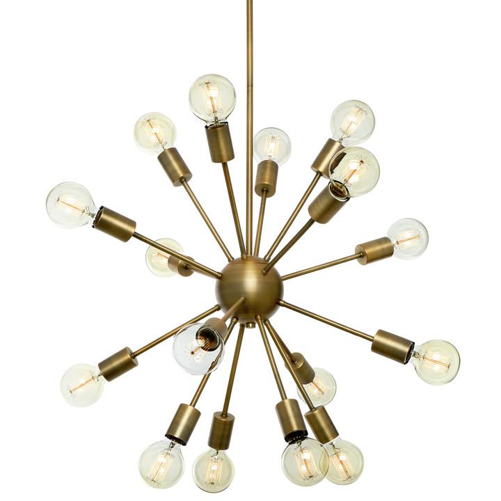 16-Light Aged Brass Sputnik Chandelier