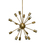 Sputnik 16-Light Chandelier, Aged Brass