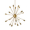 Sputnik 20-Light Chandelier, Aged Brass