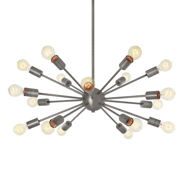 18-Light Pewter Sputnik Chandelier