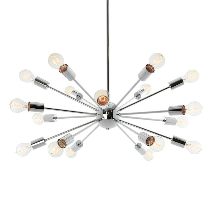 18-Light Chrome Sputnik Chandelier