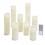 Leila Ivory Melted-Edge Slim Wax Flameless Pillar Candles, Set of 8