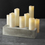 Leila Ivory Melted-Edge Slim Wax Flameless Pillar Candles, Set of 8