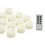 Cora Ivory Drip Flameless Petite Votive Candles, Set of 12