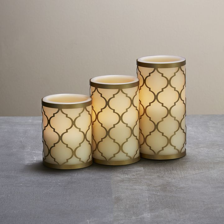 Tangier Flameless Candles, Set of 3