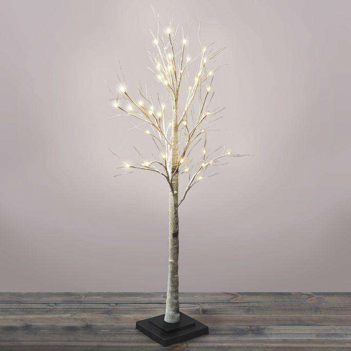 Warm White LED Birch Tree, 4.5 ft.