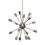 16-Light Pewter Sputnik Chandelier