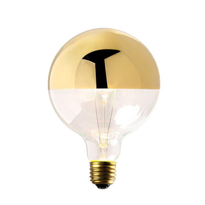 Gold-Tipped G40 Incandescent Bulbs, 40W (E26) - Single