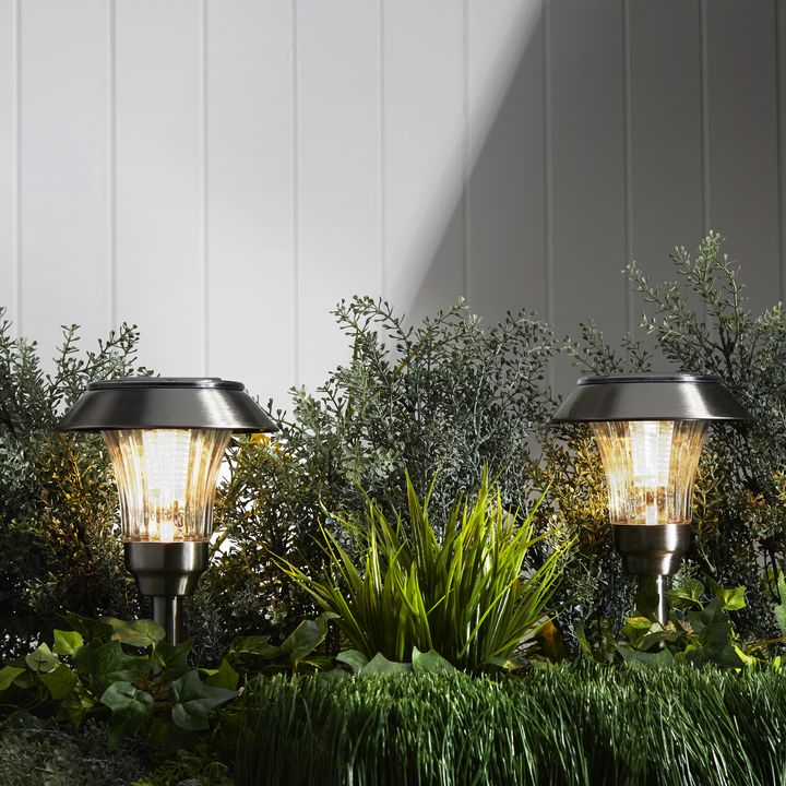 Sulis Stainless Steel Solar Path Lights, Set of 4