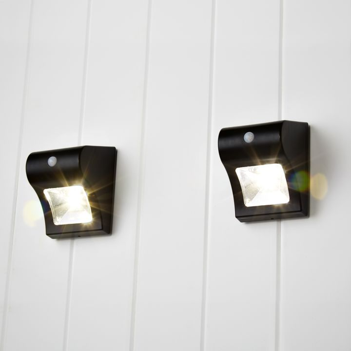 Lights solar lights solar wall onada black solar wall onada black solar wall light set of 2 aloadofball Image collections