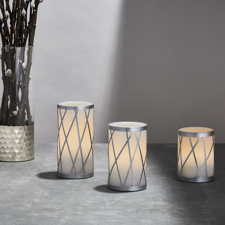 Traverse Flameless Candles, Set of 3