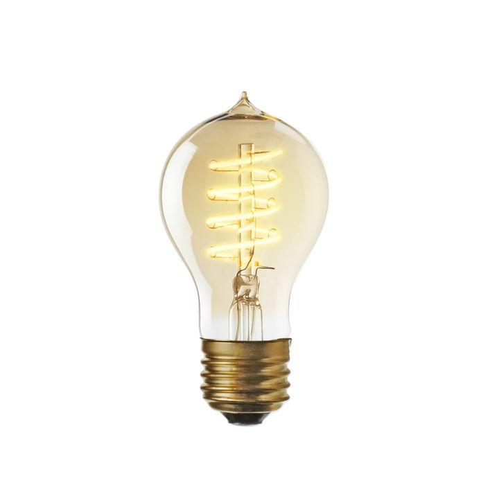 Crown Heights LED A19 Vintage Edison Bulbs(E26), Single