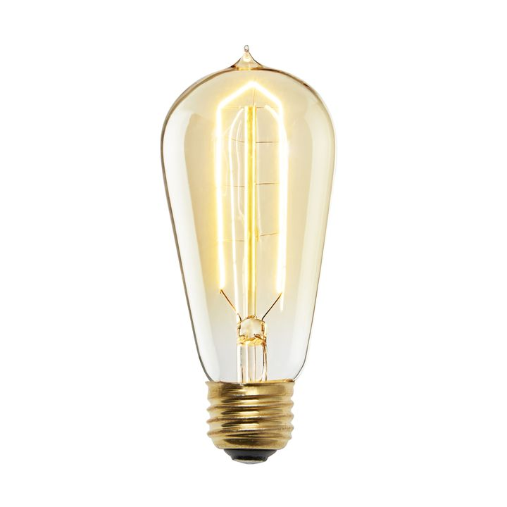 Flatbush Incandescent ST18 Vintage Edison Bulb (E26), Single