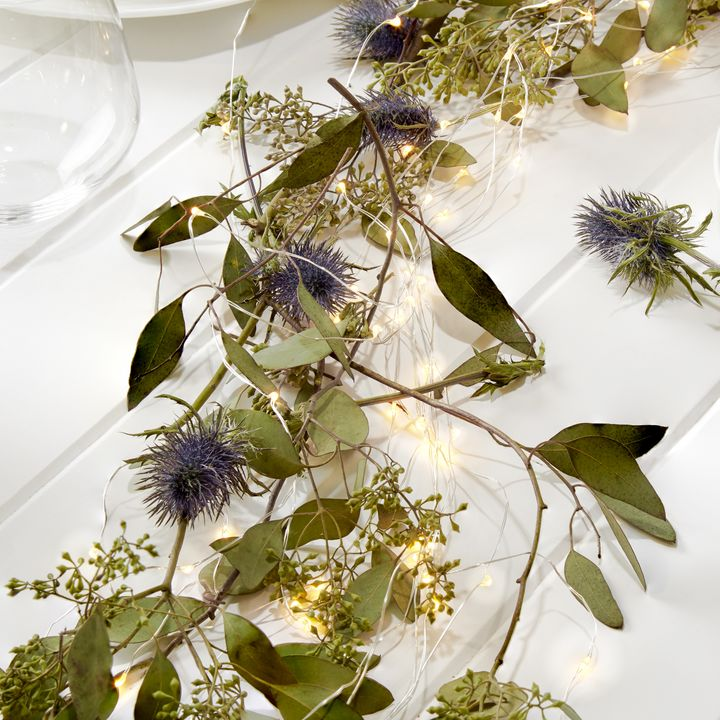 Starry Bright-White Silver Cascading Garland 8.5ft