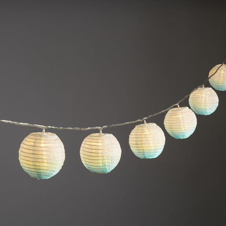 "Ara Seafoam Ombre 3"" Lanterns, Set of 10"