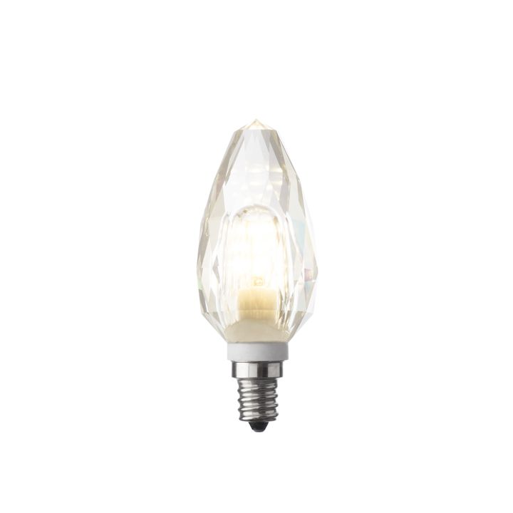 Crystal Torpedo E12 LED Bulb, Single