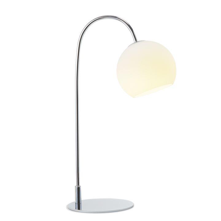 Celeste Table Lamp with White Globe Chrome