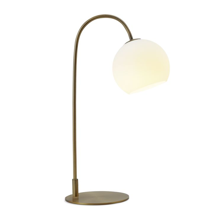 Celeste Table Lamp with White Globe Bronze
