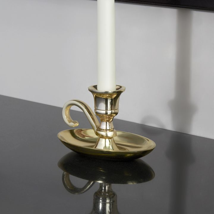 Emory Brass Taper Candle Holder